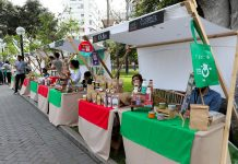 Eco Navidad en el parque Kennedy de Miraflores