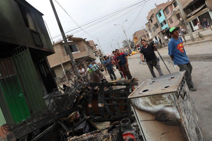 Deflagración en Villa El Salvador / Foto: Andina