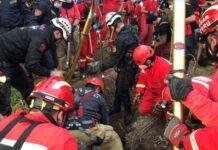 Menor cayó a un forado de 51 metros de profundidad y 30 centímetros de diámetro