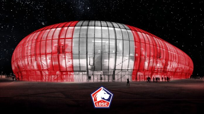 Lille de Francia vistió a su estadio con los colores rojo y blanco