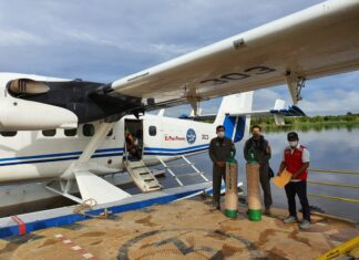 Puente aéreo llegó a Santa Mercedes y Nueva Esperanza en Putumayo