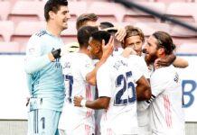 Victoria del Real Madrid sobre el Barcelona.