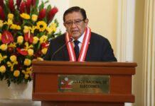 Presidente del Jurado Nacional de Elecciones (JNE), magíster Jorge Luis Salas Arenas.