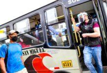 Transporte público durante la cuarentena