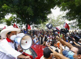 Pedro Castillo en campaña / Foto: Andina