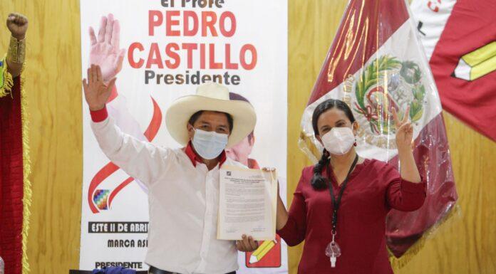 Pedro Castillo y Verónika Mendoza