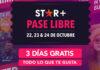 Quienes opten por Star+ Pase Libre disfrutarán de todo el contenido de entretenimiento general y deportes de Star+ sin cargo entre el 22 y el 24 de octubre.